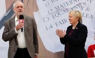 Jeremy Corbyn and Leadership Rival Angela Eagle